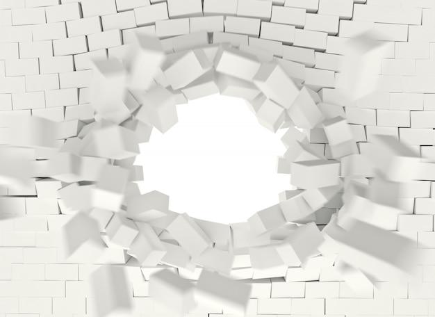 Esplosione di mattoni 3d