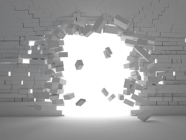 Esplosione di mattoni