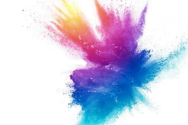 Esplosione di polvere multicolore astratta