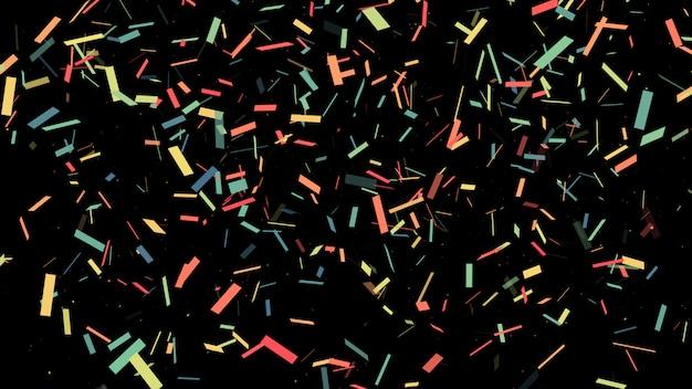 Esplosione di popper partito colorato coriandoli e cadendo.
