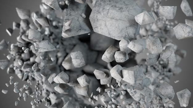 Esplosione e distruzione della sfera di pietra