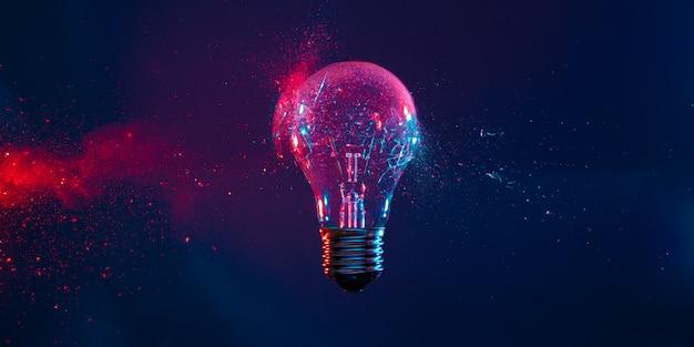 Esplosione sfondo lampadina