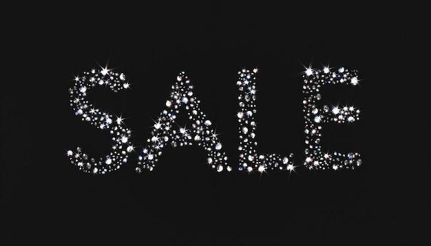 Esprima la vendita, allineata con l'illustrazione brillante dei diamanti 3d