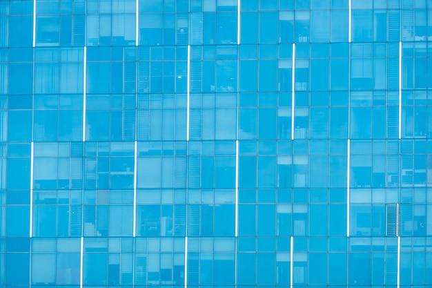 Esterno della finestra di vetro dell'edificio per uffici