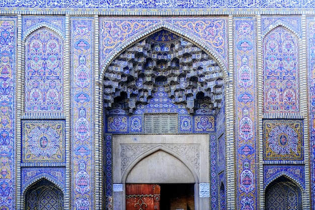 Esterno della moschea di nasir al-mulk. shiraz, iran.