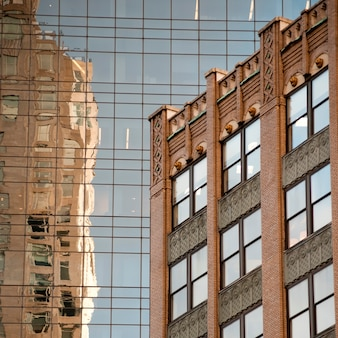 Esterno di edifici a manhattan, new york city, stati uniti d'america