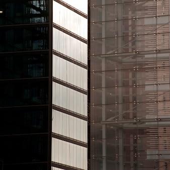 Esterno di edifici nei dintorni di columbus circle a manhattan, new york city, usa