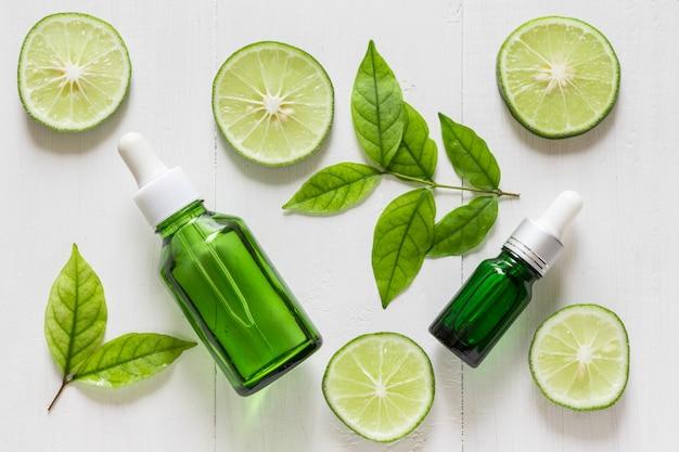 Estratto di calce vitamina c per trattamenti e rimedi per la pelle