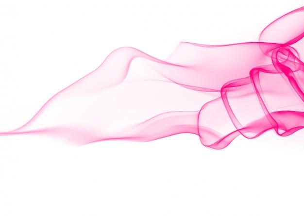 Estratto di fumo rosa su sfondo bianco