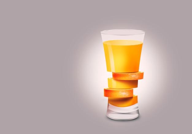 Estratto di vetro arancione