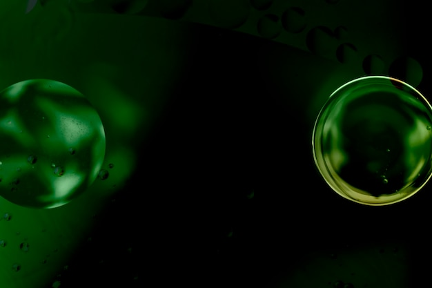 Estratto elegante specchio bolla verde