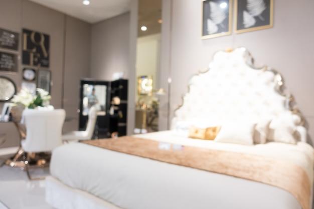 Estratto sfocatura mobili negozio e negozio interno
