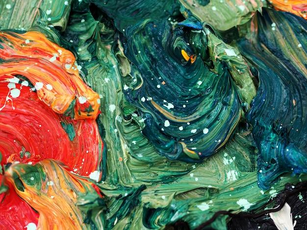 Estratto variopinto di struttura della pittura ad olio.
