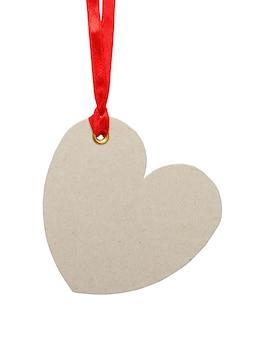 Etichetta a forma di cuore