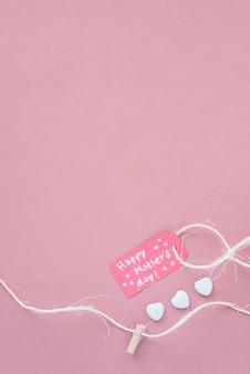 Etichetta del giorno della mamma felice