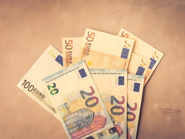 Euro banconote dei soldi di valuta europea