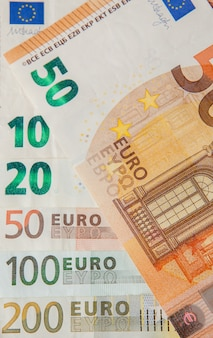 Euro soldi. contanti in euro.