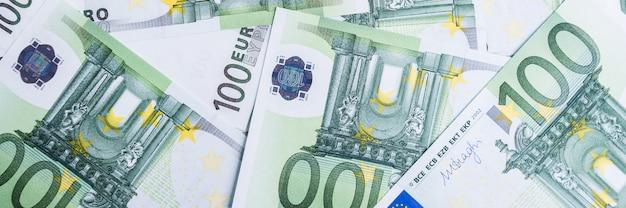 Euro soldi. sfondo di cassa in euro. banconote in euro.