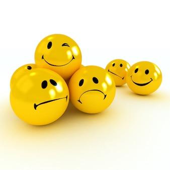 Faccina ammiccante portata da quelli tristi e arrabbiati