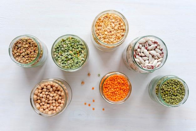 Fagiolo verde, lenticchie verdi, lenticchie, piselli, fagioli