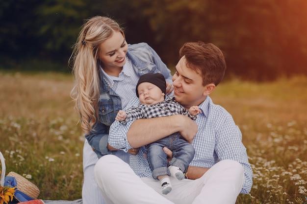 Famiglia con i neonati