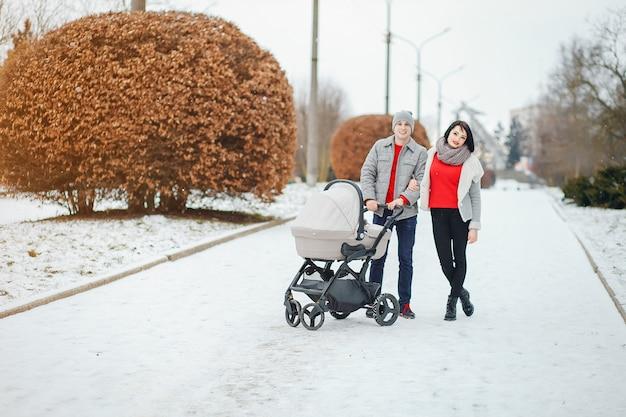 Famiglia d'inverno