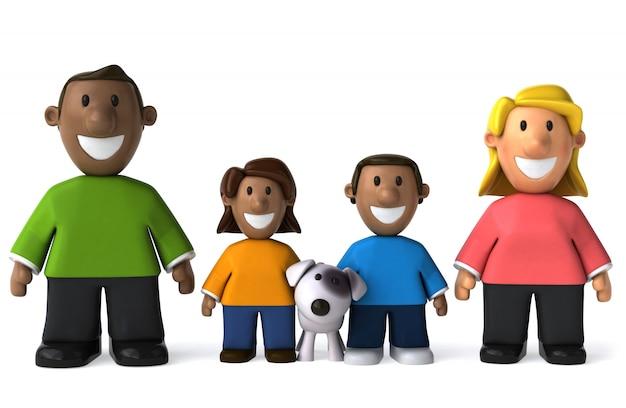 Famiglia varia - illustrazione 3d