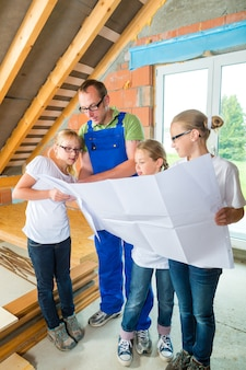 Familiy visualizzazione sito di costruzione di casa