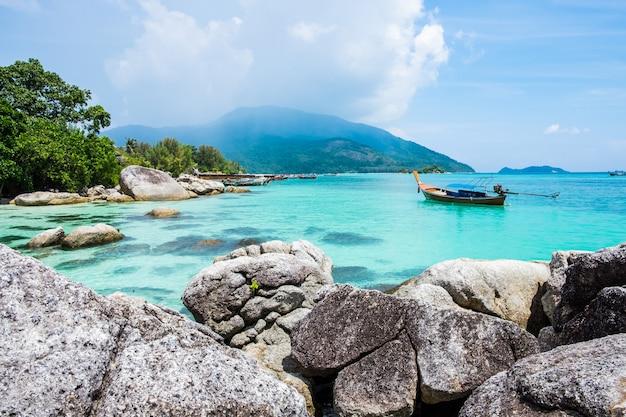 Famosa attrazione turistica dell'isola di lipe meravigliosa