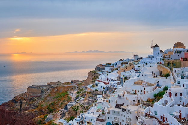 Famosa destinazione turistica greca oia, grecia