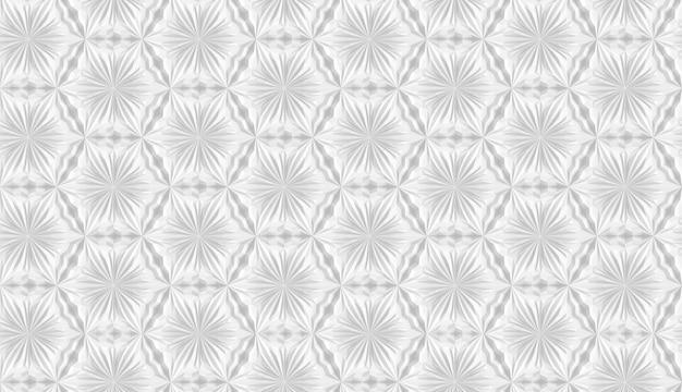 Fantasia tridimensionale a geometria leggera con fiori a sei punte