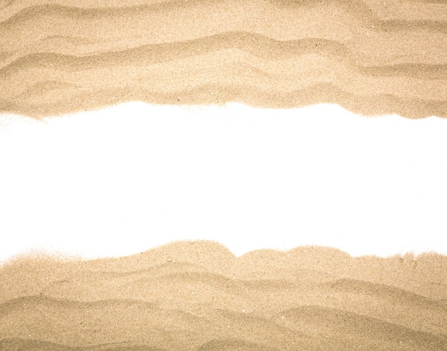 Fantastica cornice fatta con la sabbia