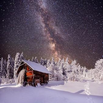 Fantastico paesaggio invernale.