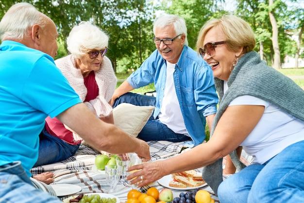 Fare un picnic con gli amici