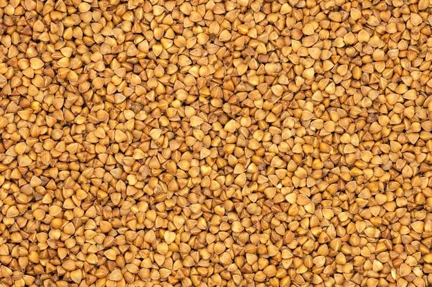 Farina di grano saraceno, close up, macro.