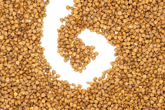 Farina di grano saraceno, da vicino.