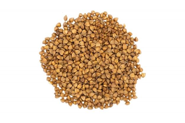 Farina di grano saraceno, grappolo isolato, da vicino.