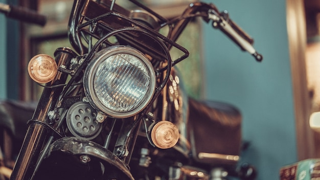 Faro del motociclo d'epoca