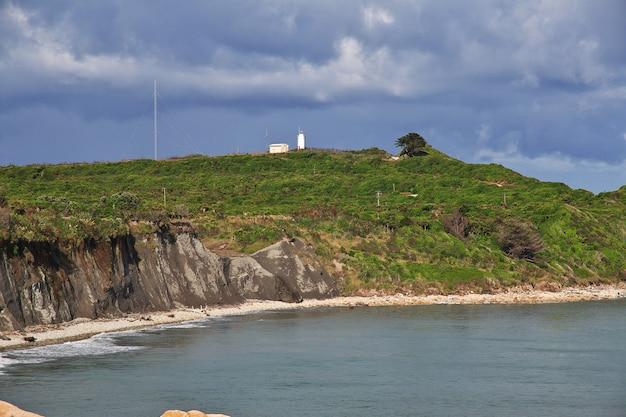 Faro sulla costa ovest dell'isola del sud, nuova zelanda