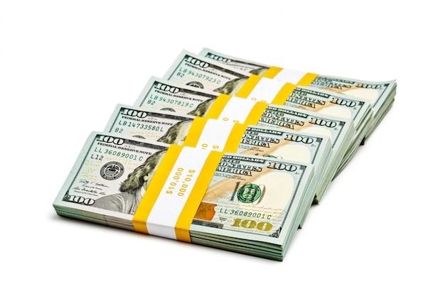 Fasci di banconote da 100 dollari statunitensi 2013