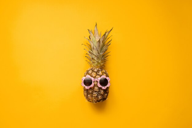 Fashion hipster pineapple in sunglasses