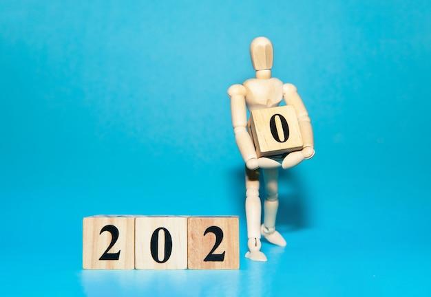 Felice anno nuovo 2020 celebrazione concetto