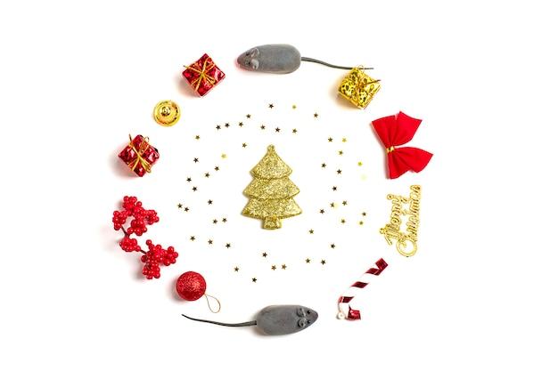 Felice anno nuovo. anno del ratto secondo il calendario cinese