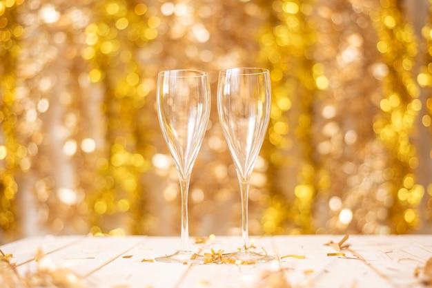 Felice anno nuovo muro, oro bokeh