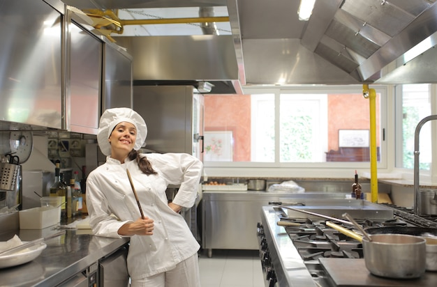 Felice chef femminile