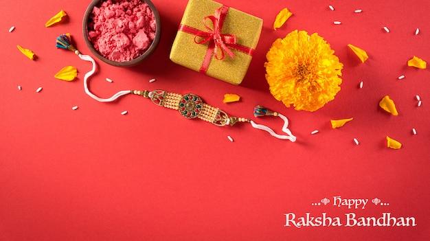 Felice composizione di raksha bandhan