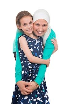 Felice famiglia musulmana