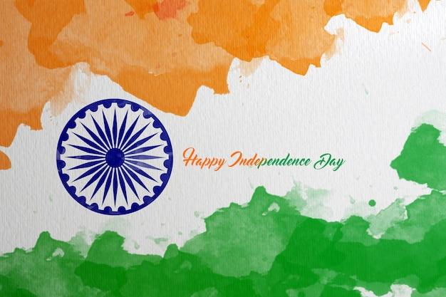Felice festa dell'indipendenza indiana sullo sfondo