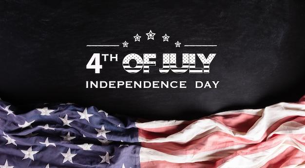 Felice giorno dell'indipendenza. bandiere americane