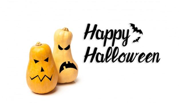 Felice halloween con zucche